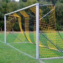 Fußballtornetz 5,15 m x 2,05 m Tiefe 1,00 / 1,00 m, PP 4 mm ø