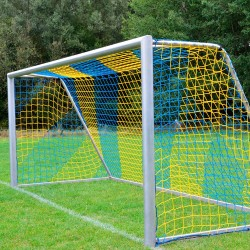 Fußballtornetz 7,50 m x 2,50 m Tiefe 2,00 / 2,00 m, PP 4 mm ø