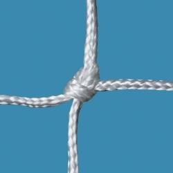 Fußballtornetz 7,50 m x 2,50 m Tiefe 2,00 / 2,00 m, PA 4 mm ø