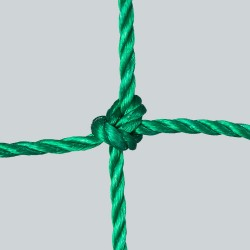Fußballtornetz 7,50 m x 2,50 m Tiefe 0,80 / 2,00 m, PE 4 mm ø