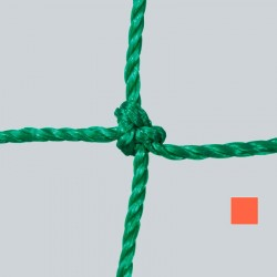 Fußballtornetz 7,50 m x 2,50 m Tiefe 0,80 / 2,00 m, PE 3 mm ø