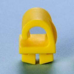 Netzhaken, Kunststoff, gelb