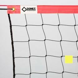 Beach-Volleyball-Trainingsnetz, PVC-Einfassung oben, 50 mm , Netzmaß 8,5 x 1,0 m