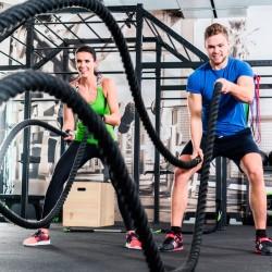 Fitness Tau / Battle Rope , Länge 15 m, Stärke 38 mm, schwarz